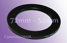 72mm to 52mm 72mm-52mm Stepping Step Down Filter Ring Adapter