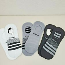 ADIDAS Socks 3-Pair Super No Show Lightweight White Gray & Black NEW