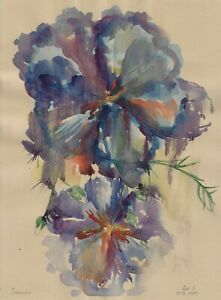 original painting А3 155GS art samovar Modern watercolor flowers sketch