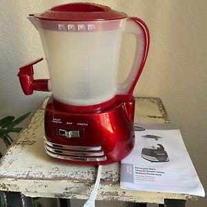 Nostalgia HCM700RETRORED Retro 50s Style Hot Chocolate Maker 600w 32oz Capacity