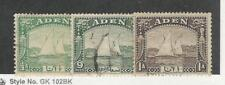 Aden, Postage Stamp, #1-3 Used, 1937, Ship, JFZ