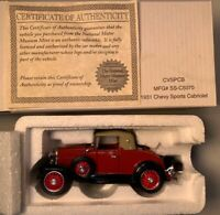 National Motor Museum Mint 1931 Chevy Sports Cabriolet 1:32 w/Box & Certificate