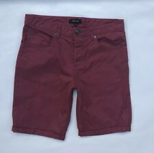 Mens * RIVER ISLAND  * Burgundy Cargo / Chino  Shorts Size 30  Great Cond