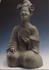Alte Kunstpostkarte -  Provinz Sichuan - Grabfigur einer sitzenden Dienerin...