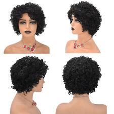 Short Kinky Curly Afro Wigs for Black Women 100% Brazilian Human Hair Natural US