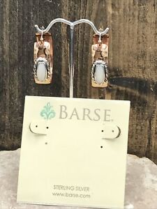 Barse Nuance Hoops- Mixed Metal & Mother Of Pearl- NWT