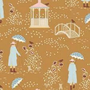 TILDA - Windy Walk Camel- Windy Days - 100% Cotton Quilting fabric