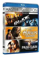 HERCULES, PAIN AND GAIN, G I JOE VENDETTA x3 Blu Ray Discs - The Rock Collection