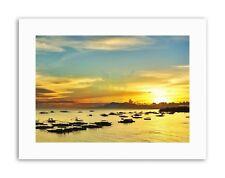 MARINA TRAMONTO BARCHE Filippine Foto Poster Foto Tela art prints
