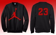 Felpa stampa Michael Jordan 23 nera stampa rossa new york  basket nba leggenda