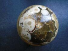Large OCEAN JASPER Sphere with crystal druse. Madagascar.81 mm 709 grms