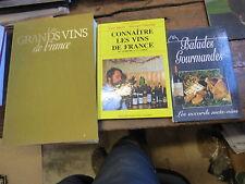 Lot de 3 livres sur le vin - connaitre les vins de France -  balades gourmandes