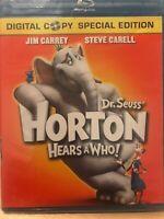 Dr. Seuss' Horton Hears a Who! (Blu-ray Disc, 2008) Jim Carrey & Steve Carell