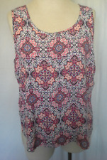 Ladies Womens Tank Top Cami Tiered Singlet Sleeveless Blouse Jeanswest Size 14