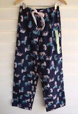 Love to Lounge / Kmart Women's Blue Tiger Print Flannel Pajama Pants - Size 6-8