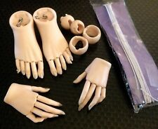 LOT 1/3 BJD SD JOINTED FINGERS HANDS FEET TOES ELASTIC RESTRING DOLL CHATEAU