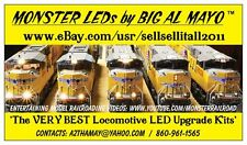 HO WARM WHITE LED MONSTER MODELS KIT KATO MTH ATHEARN GP38-2 SD70M DASH 9-44AC