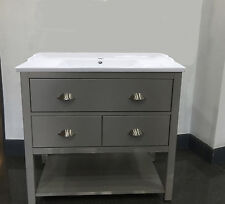 Traditional Painted Wash Stand 80cm wide Drawer Unit Bathroom Vanity Cabinet