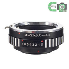 AF-M4/3 Sony A Minolta AF Lens to Olympus MFT OM-D Panasonic GH4 G6 G7 Adapter