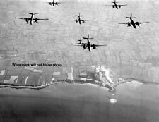 "9th AF B-26 Marauder D-Day Pre-invasion Bomb Run 8""x 10"" World War II Photo 468"