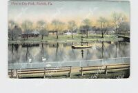 PPC POSTCARD VA VIRGINIA NORFOLK VIEW IN CITY PARK 1913 HAND CANCELED PARTRIDGE