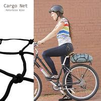 30x30cm 6-Hooks Black Motorcycle Motorbike Bike Cargo Luggage Bungee Cord Net