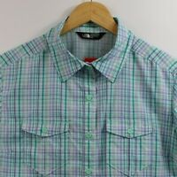 The North Face Size M Women Casual Short Sleeve Outdoor Plaid Shirt