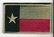 Faded Texas Lone Star State Flag Patch VELCRO® BRAND Hook Fastener