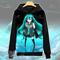Anime Hatsune Miku Esdeath Unisex Hooded Sweatshirt Pullover Coat S-3XL #Dl68