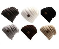 Mens Ladies Oversized Slouch Beanie Hat Knitted Woolly Winter Unisex