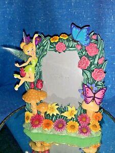 Vintage  WALT DISNEY Bobble TINKERBELL MAGIC WAND Butterfly Picture Frame ❤️sj3j
