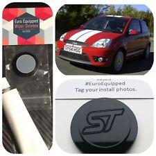 ST engraved Mk6 02-08 3dr Ford Fiesta Wiper Delete Kit Bung Gloss Black Zetec