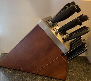Awesome Henckels 4-Star Solingen 8-PC Knife Block Set Self-Sharpening W/ Extras