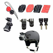 Adjustment Curved Adhesive Helmet Front Mount Kit For GoPro Hero 3+/3/2/1 Camera