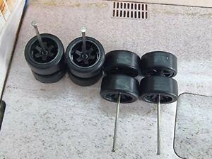 1/64 Rubber Wheels 2 set Pack Real Rider Hot Wheels Matchbox JDM Mazda Nissan c1