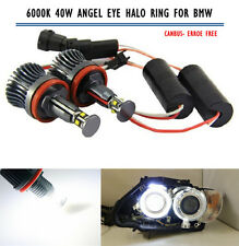 CREE 40W High Power H8 Angel Eyes Halo Ring Bulb for BMW 360° Super White