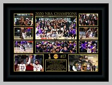 LA LAKERS 2020 NBA CHAMPIONS SIGNED PHOTO COLLAGE LEBRON JAMES PRINT OR FRAMED