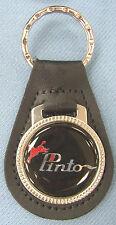 Vintage Black Ford PINTO Black Leather Keyring Key Fob 1971 1972 1973 1974 1975