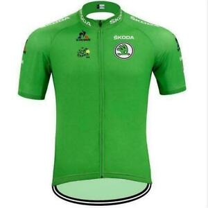 Tour de France LCL Retro Cycling Jersey Short Sleeve Pro Clothing Bike Vintage
