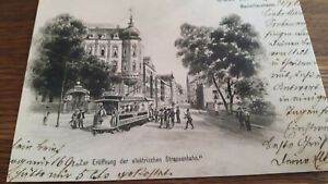 Ak,Regensburg,1903,Zur Eröffnung der Straßenbahn,Maximilianstrasse,Repro