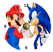 NEW Mario and Sonic CD Clock