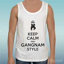 "CANOTTA T-SHIRT "" KEEP CALM AND GANGNAM STYLE PSY DANCE  ""IDEA REGALO"