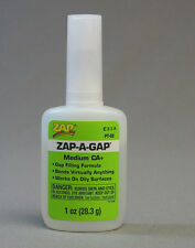ZAP-A-GAP 1 OZ. GLUE MEDIUM CA 2 train figures scenery models plastic ZAP2 NEW