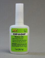 ZAP-A-GAP 1 OZ. GLUE MEDIUM CA 2 train figures scenery models plastic ZAP2 NEW