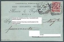 BIELLA CITTÀ 90 FERRI FERRO FERRAMENTA METALLI Cartolina COMMERCIALE