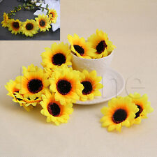 20Pcs Sunflower Artificial Silk Flower Heads DIY Bud Party Wedding Home Decor