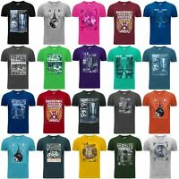 Mens Designer Graphic Printed T-Shirt 100% Cotton Gym Athletic Training Tee Top