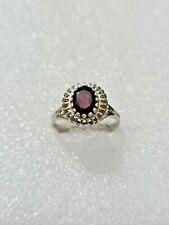 Gorgeous Vintage Garnet Gemstone Ring 925 Solid Silver Size U~U1/2