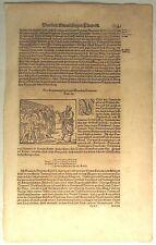 Dänemark JÜTLAND Original Holzstich Textblatt um1550 Waldemar Wenden Mittelalter