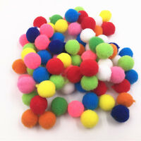 100-500 Pieces  Small Fluffy Pom Poms for Decor Arts Crafts  mix color 15mm